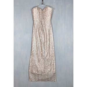 Amsale spencer gown in rose gold sequin 6 maxi